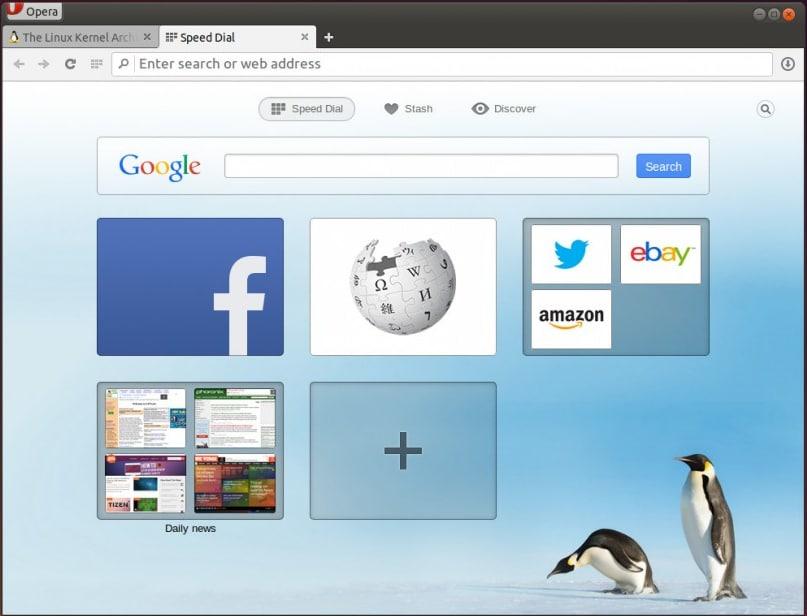 Opera Webbrowser